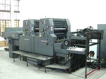 海德堡双色四开印刷机